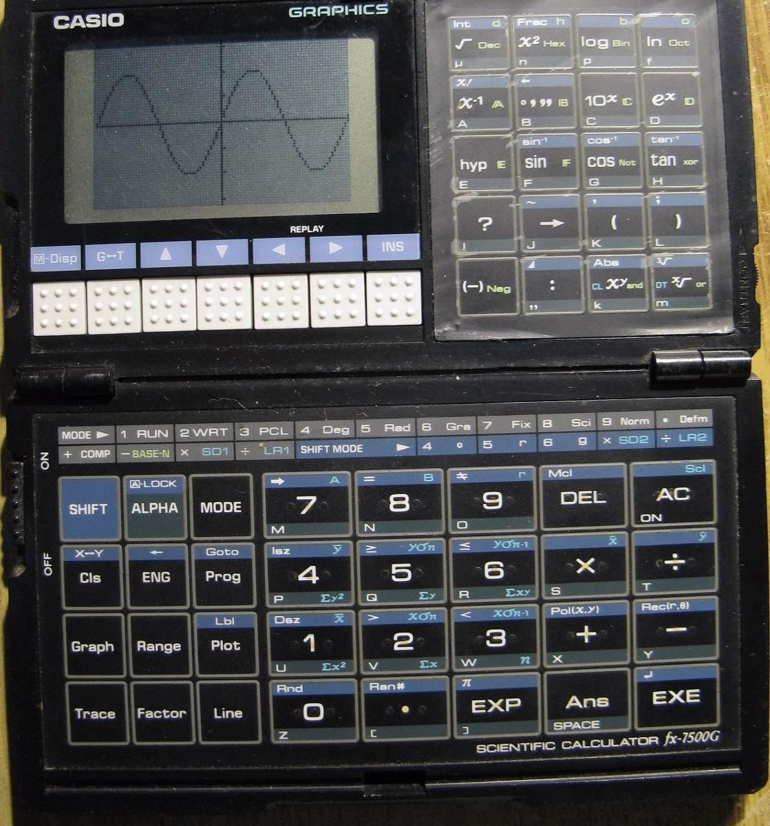 ff6a28323b51 Retro Calculadora Científica Casio Fx-7500g Impecable! -   3.200