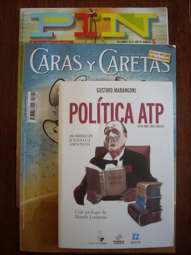 revista caras y caretas n°2289, libro política atp marangoni