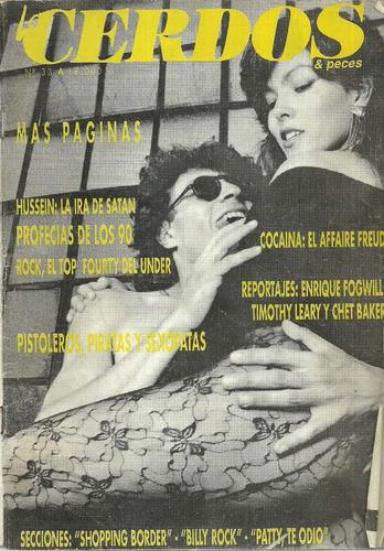 revista cerdos & peces. nº 33. fogwill-chet baker