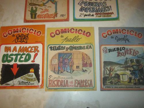 revista comiciclo decada del 70 lote de 5