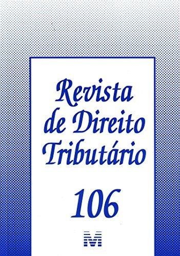 revista de direito tributario vol 106 de editora malheiros