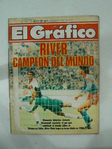 revista el grafico 1986 n 3506 river campeon en la plata