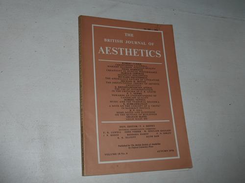 revista estetica british journal of aesthetics vol 18 n°4 78