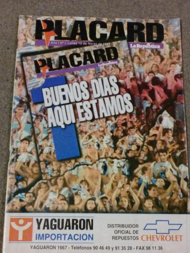 revista futbol uruguayo placard nº1