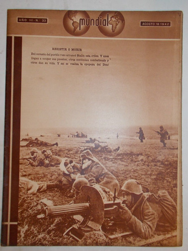revista mundial, uruguaya década 40, política guerra, nº 33