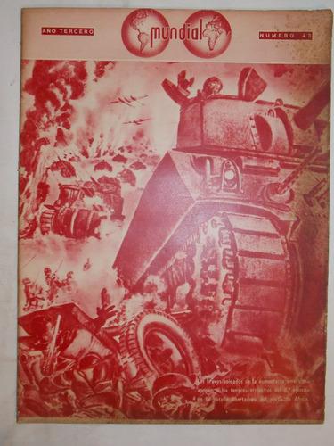 revista mundial, uruguaya década 40, política guerra, nº 43