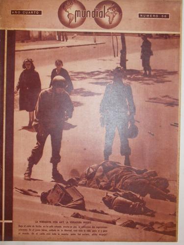 revista mundial, uruguaya década 40, política guerra, nº 58