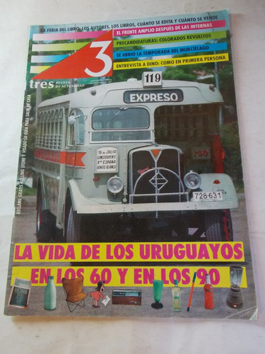 revista tres semanario uruguayo, dec 90, nº 92