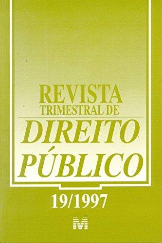 revista trimestral de direito publico ed 19 de editora malhe
