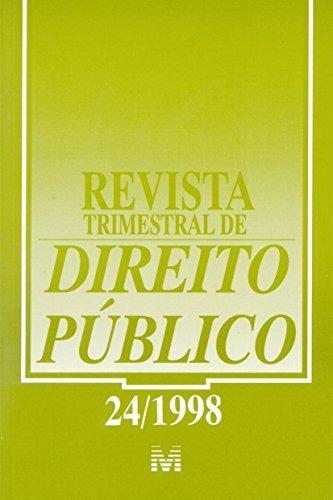 revista trimestral de direito publico ed 24 de editora malhe