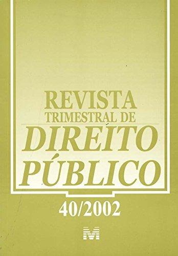 revista trimestral de direito publico ed 40 de editora malhe