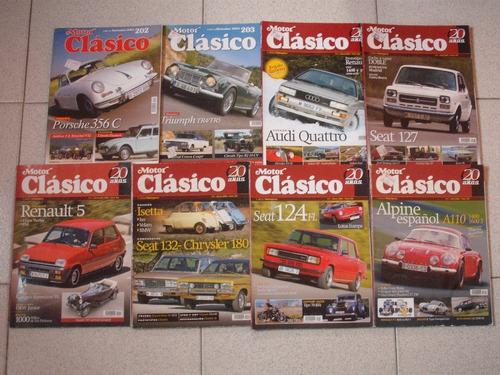 revistas motor clasico - autos antiguos