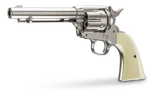 revolver coltsaa.45 nickel/marfil co2steelbb(.177)4.5mm 5,5