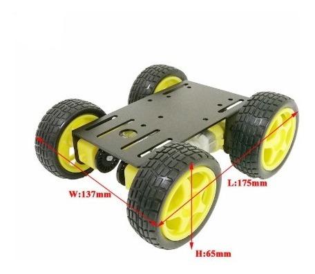 robot 4*4 chasis metálico motorizado, para arduino
