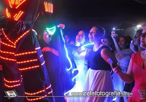 robot led - fiestas o eventos - verdadero show en altura