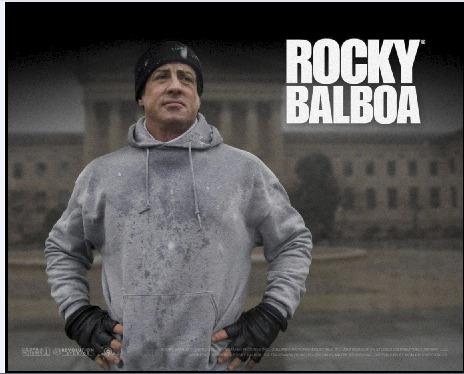 rocky balboa - posters enmarcados con vidrio