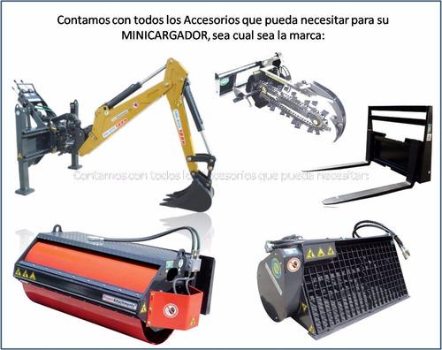rodillo compactador vibrador liso, para minicargador, nuevo