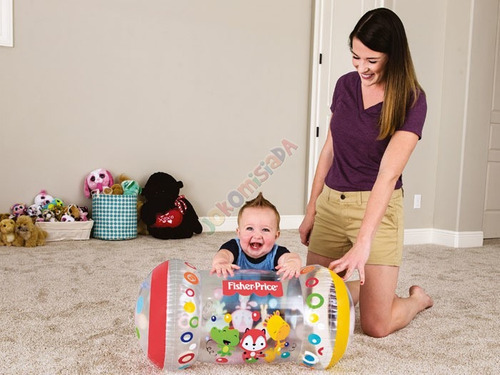 rodillo inflable sonajero gran tamaño 64cm fisher price bebe