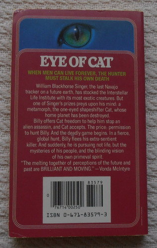 roger zelazny - eye of cat (en inlglés)