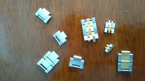 rolex,  eslabones varios  acero y acero oro