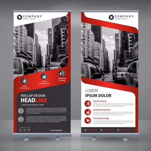 roll-up con lona - banner - marketing - publicidad - eventos