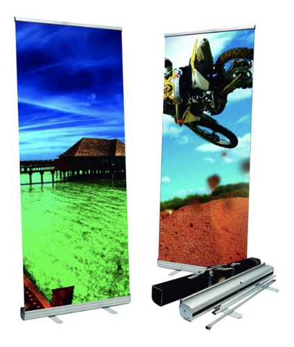 roll up rollup banner 120x200 cms - mundo trabajo