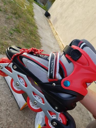 rollers en linea, patines. talle ajustable hasta el 40.nuevo