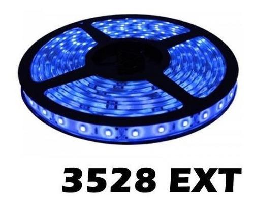 rollo tira 300 luces led azules 5mts interior/ exterior 3528