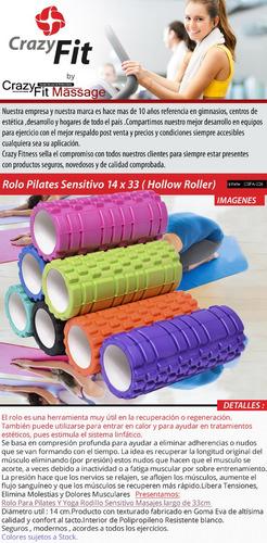 rolo sensitivo rodillo 33 cms pilates fitness entrenamiento