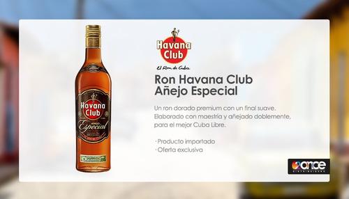 ron havana añejo especial. paga con mp!!