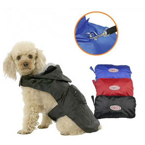 ropa para perros impermeable 40cm negro