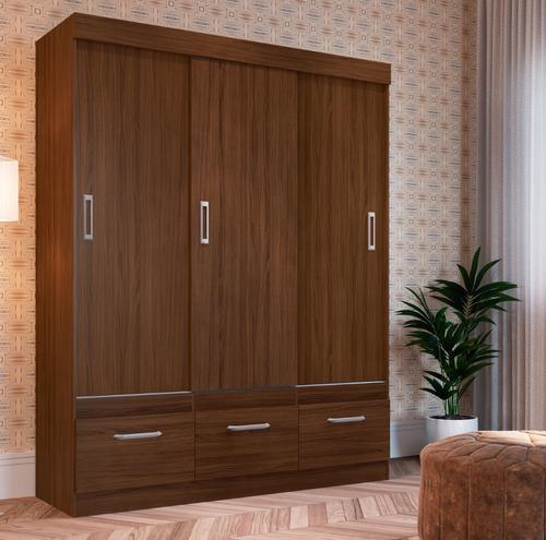 ropero 3 puertas corredizas 3 cajones dormitorio