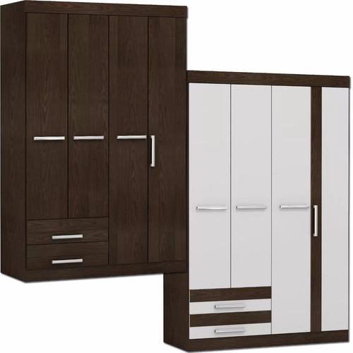 ropero 4 puertas roma - dormitorio - placard - mueble - lcm