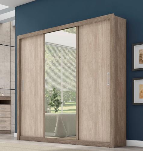 ropero gigante 3 puertas corredizas con espejo