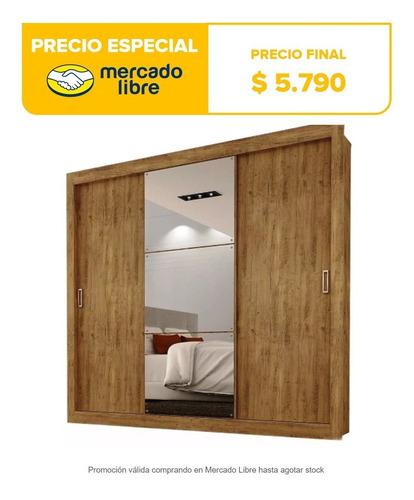 ropero placard 3 puertas corredizas con espejos enorme mweb