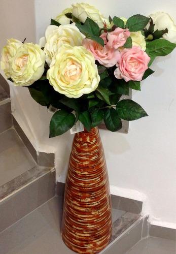 rosas, vara. flor artificial