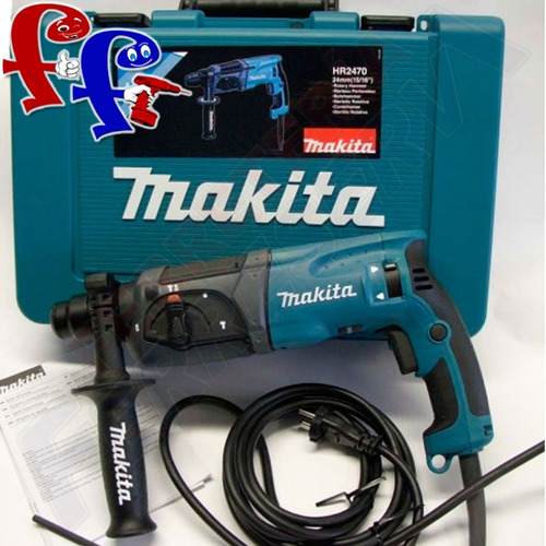 rotomartillo makita 780w hr2470 sds plus v/v + lentes regalo