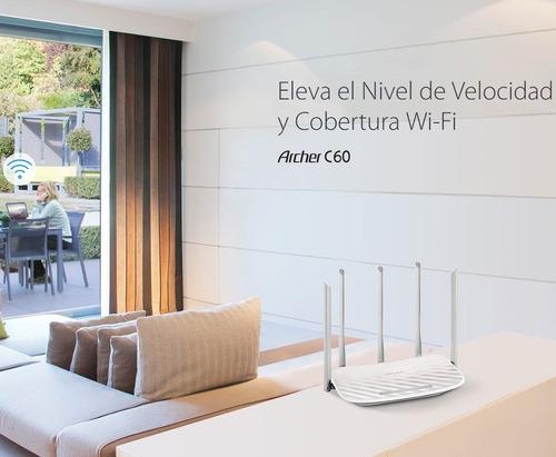 router wifi tp-link archer dual c60 5 antenas configurado