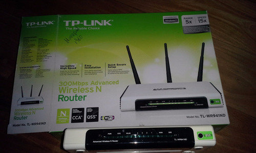 router wifi tp link tl-wr941nd 300 mbps wireless 3 antenas