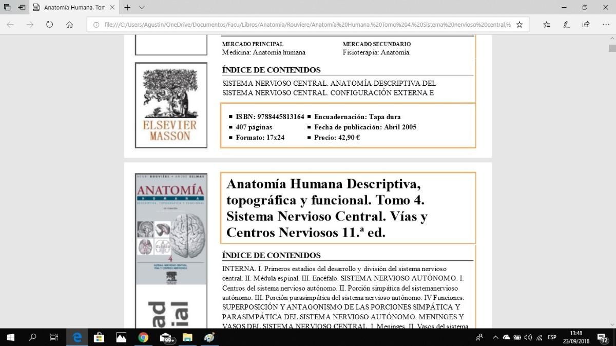 Rouviere Anatomia Digital (no Escaneado) - $ 220,00 en Mercado Libre