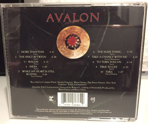 roxy music - avalon ( cd u s a ) more than this. bryan ferry