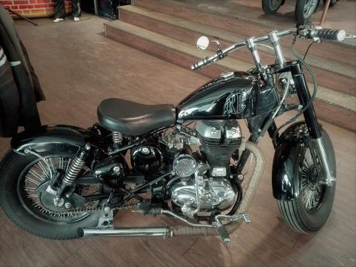 royal enfield bobber | custom classic 500cc negra divina