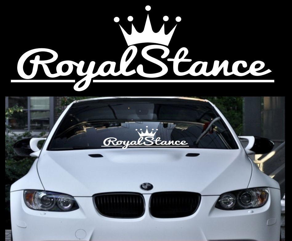 Royal Stance Adhesivo Vinilo Para Auto Parabrisa Jdm Calco 380