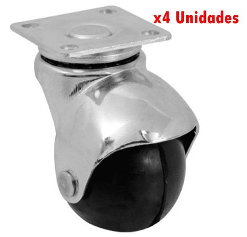 rueda de goma bola base 1.5'' 4 piezas best value g p