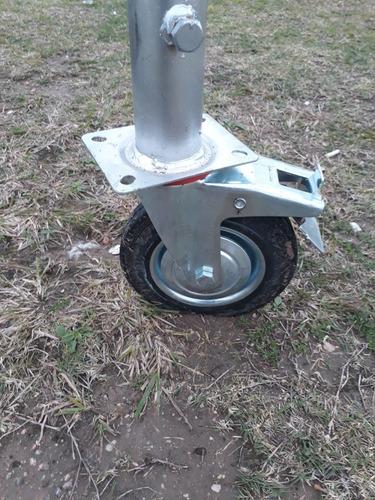 ruedas con frenos para andamios de pintor yesero 650