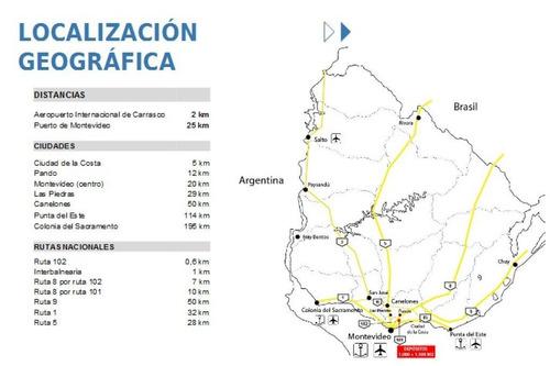 ruta 101 y ruta 102,a 2km aeropuerto y 25km puerto
