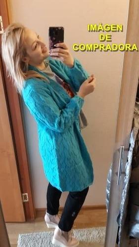 saco cardigan de algodón largo para mujer (por encargue)