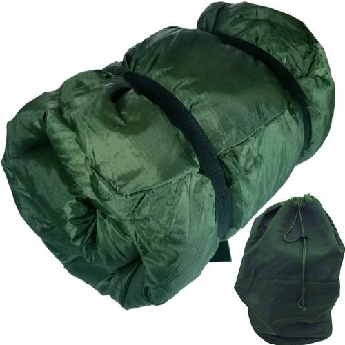 saco dormir camping termico militar + sacola grande exército