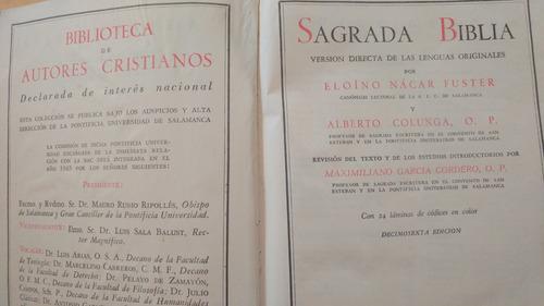 sagrada bliblia . biblioteca de autores cristianos. 1965