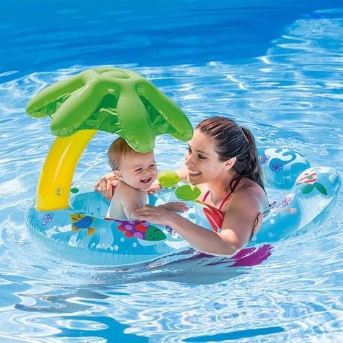salva vida intex flotador bebe mama 2 en 1 mvd kids